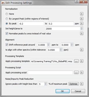 Figure 17 T1rho Reprocessing Parameters
