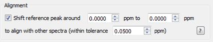 Figure 19 Alignment Parameters