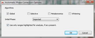 Figure 5 Phase Correction Options
