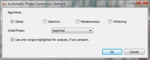 Figure 6 Baseline Correction Options