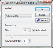 Figure 9 Baseline Correction Options  for Individual Fragments