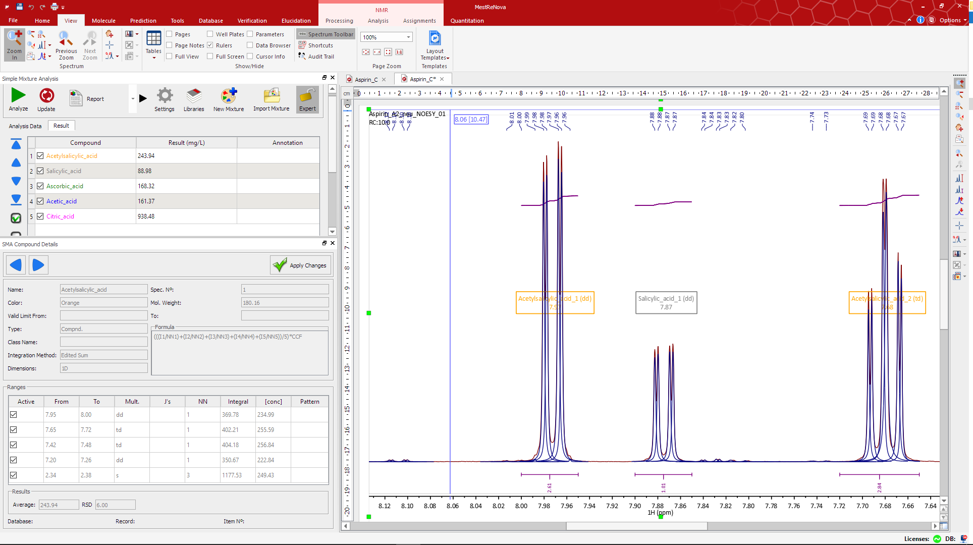 Sma mestrelab the sma interface interacts directly with the nmr data gamestrikefo Images