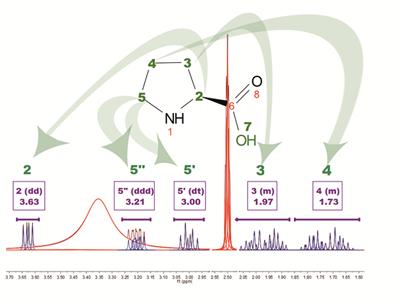 Determining protein structure from nmr spectrum