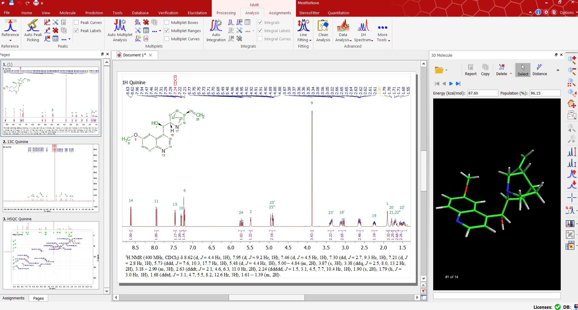 1h nmr correlation table